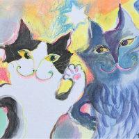 ARTHOUSEさんでネコ変身イラストします