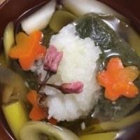 毎日食べても飽きないほど好きな💛 玄米もちのお雑煮・磯辺焼き(⋈◍>◡<◍)。✧♡