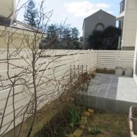 ウッドフェンス作り DIY 完成