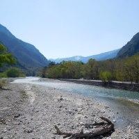奥上高地から明神橋へ(6)