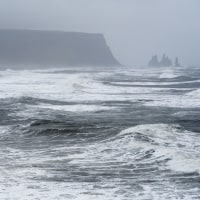 アイスランド南部に嵐が