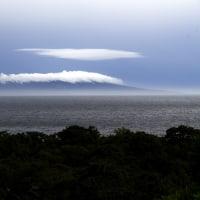 伊豆大島 三原山の傘雲
