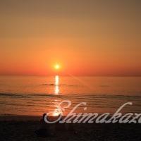 スリンビーチの夕暮れ♪
