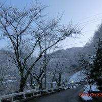 冬の別れ雪