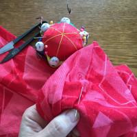 お裁縫の時間。