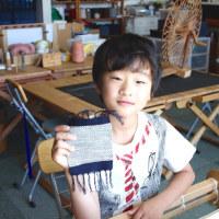 手織り体験は楽しいよ    竹島クラフトセンター