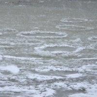 小川原湖の結氷のはじまり