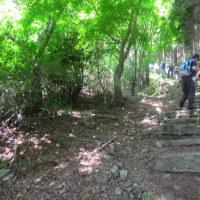 13 灰ヶ峰(737m:呉市)登山  階段状に