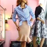 タイトスカートファンに!ほんとにタイトスカート。細身がキレイなフランス、マーメイドタイトスカート!黄色にピンクに黒にベージュ。