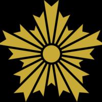 相撲協会ロゴは 大に桜の花