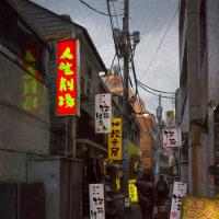 2016.11.14 神田神保町1: 「人生劇場」がある路地