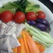 野菜と豚肉の冷やしだれ