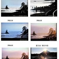 雨晴海岸の初日の出 残念   170101(日)