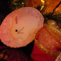 ウサギ・クリスマスツリー