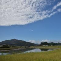 はまぼう公園から見える細田川と秋の雲 (Photo No.13751)