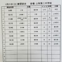 【変更】1月21日(土) 日程&結果