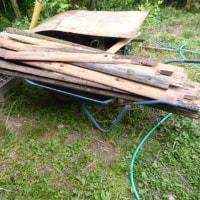 露天風呂の薪