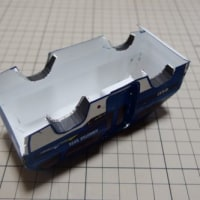 フリーのペーパークラフトSUZUKI-Angkot(1boxのバン)を作ってみる_その2