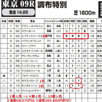 「カバラ音数出馬表」 5月21日東京9R・3連単289,680円など2日間で計38レース的中! 全国ローソン・ファミリーマート・サークルKサンクスで発売中!