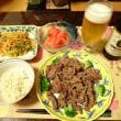 晩ごはん☆牛肉のお醤油焼き