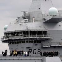 英新空母クイーン・エリザベスが初の試験航海 「最大・最強」の軍艦