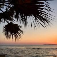 地中海に沈む夕陽@アグリジェント