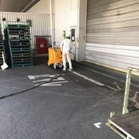 赤磐市で某工場さんのアスファルト舗装段差解消工事