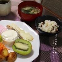 朝食プレート 焼き鱈など