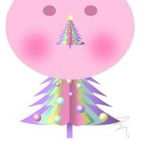 2010 オートシェイプ絵 クリスマスツリー