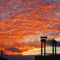 加東の秋-朝雲、夕焼け雲