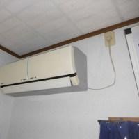 2階のエアコン、取替
