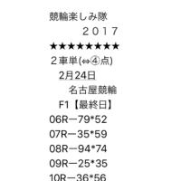 2/24 名古屋競輪③、立川競輪②