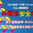 【拡散シミュレーション】IAEA基準・7日間100mSvを、現行避難基準・年20mSvと比較する