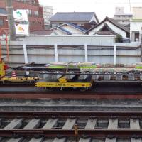 南海電鉄工務部車両MCーNo.614 レール運搬準備中