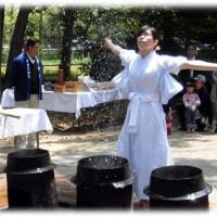 高槻のええとこ 春の歳時記(^^♪鴨神社(かもじんじゃ)春の例大祭 「湯焚き神事」