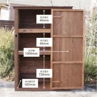 オリジナルの木製物置販売開始!完成品の置き型だよ☆