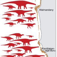 オーストラリア西部で、恐竜21種の足跡発見!