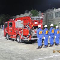 5月18日 本日は6月4日に行う市政報告会の案内送付、福生市消防団第五分団の操法訓練を見学しました