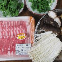 今日のホッピー  塩麹deきのこと豚しゃぶの黒胡椒鍋