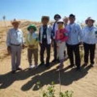 第7次緑の協力隊,恩格貝でポプラ300本植樹