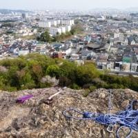 蔵王山でロッククライミング