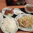 日高屋 餃子W定食 と 焼き鳥丼 京成大久保