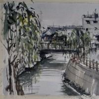 「 佐原の町並み 2 」 小野川