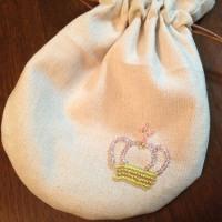 作品NO.300 ビーズ刺繍のミニ巾着(はんど&はあと2013.6キット)