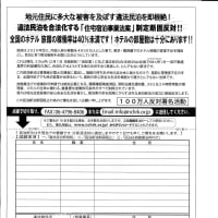これが東住吉区中野の実家で購読している朝日新聞に入っていた折り込みチラシ・民泊新法制定反対署名・私は民泊新法制大賛成なので署名しません。