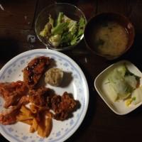 本日(12/4)の夕定食でございます🤗