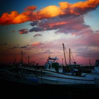 『夕景』 船泊り