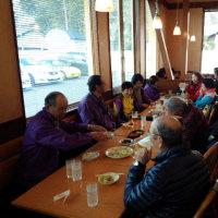手賀沼ウオーキング教室と反省食事会