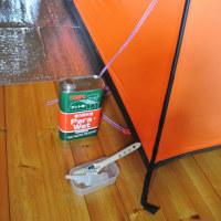テントの手入れ 家でキャンプめし