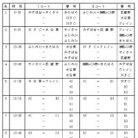 12/23(金・祝) クリスマスカップ 日程